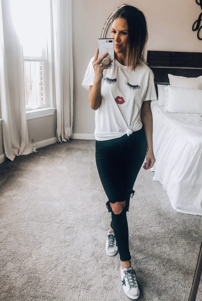 Lashes Graphic Tee