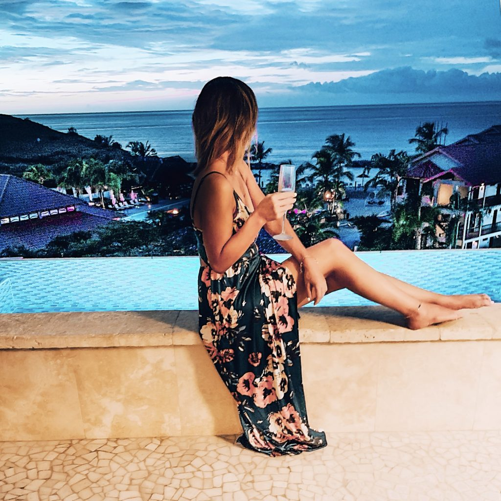 Floral Maxi Dress perfect for vacation