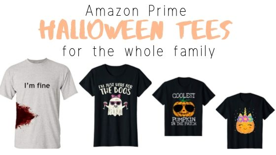 Halloween shirts from Amazon Prime