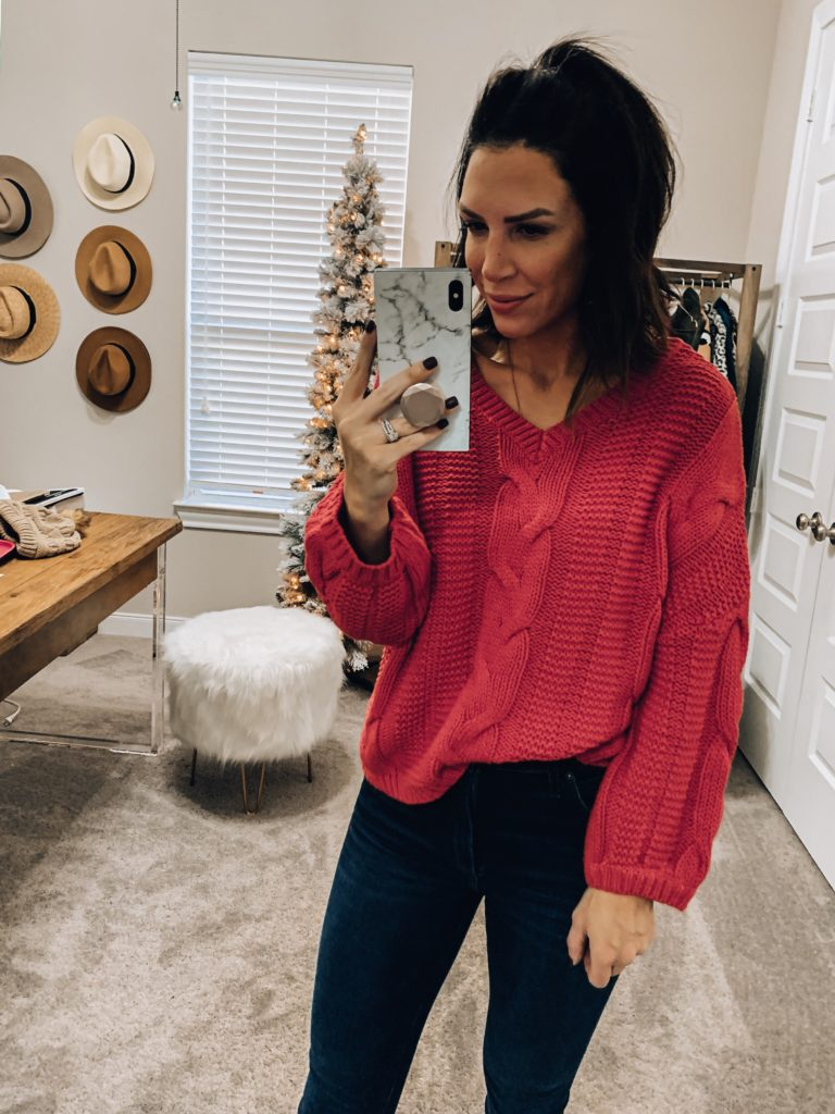 amazon cable knit sweater