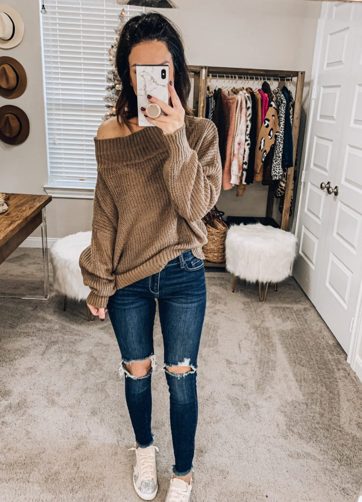 amazon off the shoulder sweater