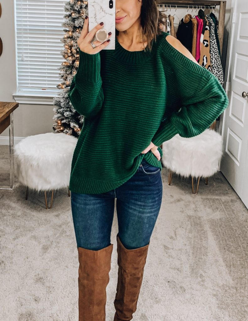 amazon cold shoulder sweater